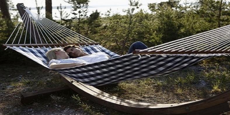 Un hamac este loc confortabil pentru a va relaxa