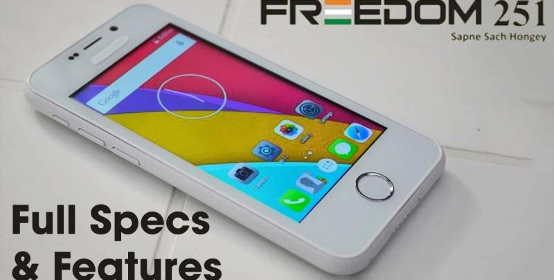 Freedom 251 – unul dintre cele mai ieftine smartphone-uri s-a lansat in India